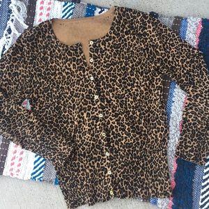 Unbranded Leopard Cardigan Brown Black Gold XS